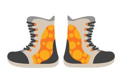 Snowboard sport clothes boots elements - stock illustration
