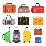 Stock Illustration of Travel bags vector illustration