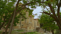 Ancient Holy Apostles Church in Athens, antique religious sanctuary, heritage Stock Footage
