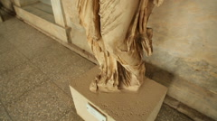 Remains of ancient marble statue at archaeological museum, cultural heritage Stock Footage