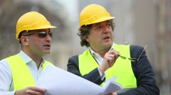 Engineer and construction manager - stock footage
