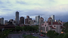 Denver Skyline and Auraria Campus Stock Footage