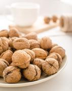 Walnuts product photo - stock photo