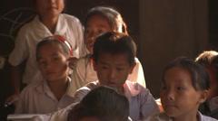School in Laos Stock Footage