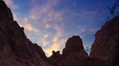 Nevada Rocky sunset time lapse Stock Footage