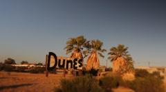 Abandoned Motel in desert near Salton Sea California Stock Footage