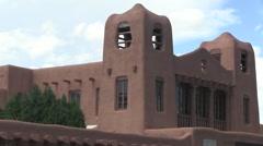Adobe architecture, Santa Fe, New Mexico. - stock footage
