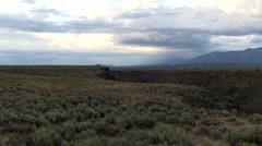 Storm clouds gather above the Rio Grande near Taos, NM. Stock Footage