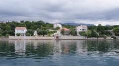 Croatian coast on Adriatic Sea - stock footage