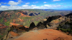 Hawaii Kauai time lapse clouds Stock Footage