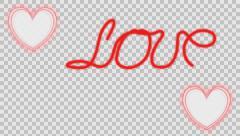 Animation on love. Stock Footage