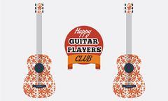 Poster, flyer, invitation, advertisement design for guitar club. Stock Illustration