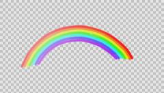 The movement of rainbows  Stock Footage