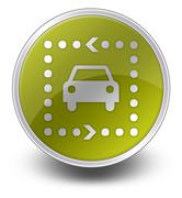 Icon, Button, Pictogram Driving Tour - stock illustration