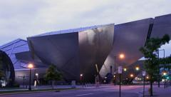 Denver Art Museum Timelapse Stock Footage