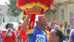 Magic New Orleans: Katrina 10 Year Second Line, Brass and Sidewalk Steppers Stock Footage