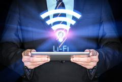 Li-Fi High Speed Wireless connection - stock photo