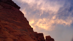 Red Rocks Sunset clouds moving timelapse - stock footage