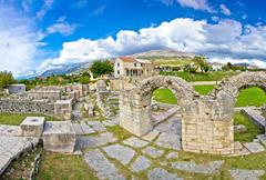 Ancient ruins of Solin view Stock Photos