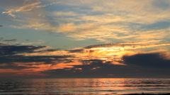 Long Beach California Ocean sunset Stock Footage
