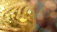 Christmas and New Year Decoration. Abstract Blurred Bokeh Holiday Background. - stock footage
