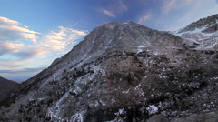 Yosemite National Forest   Mountain with snow time lapse clouds moving time lap - stock footage