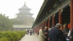 Temple of Heaven - Covered Walkway Stock Footage