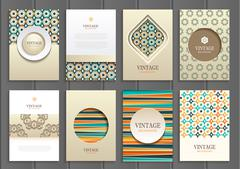 Stock vector set of brochures in vintage style Stock Illustration