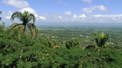 View to the valley of Cibao in Santo Cerro, Dominican Republic. Stock Footage
