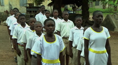 ADEISO SCHOOL CHILDREN SING NATIONAL ANTHEM - stock footage
