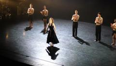 Dancers and opera divas perform world premiere of Itzik Galili's Man of the Hour Stock Footage