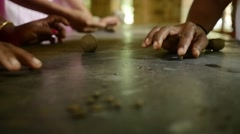Indian Handmade Clay Jewellery Hands in Slow Motion - stock footage