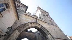 Prague Castle Charles Bridge - stock footage