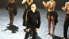 Dancers and opera divas perform world premiere of Itzik Galili's Man of the Hour - stock footage