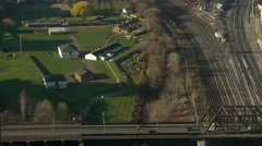 Fort York Historic Site from Above in the Morning. Stock Footage