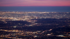 Time Lapse Wide Shot of Los Angeles California basin city light from a high view Stock Footage