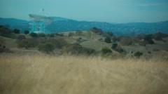 4K / UHD time lapse of radar dish at Stanford University Stock Footage