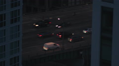 Traffic on the Gardiner Express in Downtown Toronto. Stock Footage