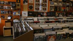 Record Store, Record, Album, Vinyl, Shop - stock footage