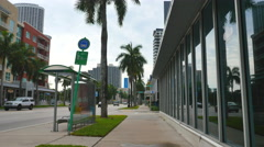 20th Street Biscayne Miami Stock Footage