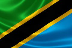 United Republic of Tanzania's National Flag Stock Illustration
