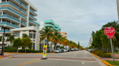 Architecture Ocean Drive Stock Footage