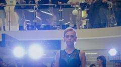 Stock Video Footage of models in lingerie walking on catwalk