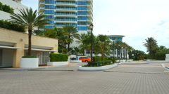 Continuum Miami Beach Stock Footage