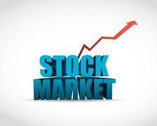 stock market sign text graph illustration - stock illustration