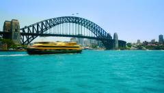 Time-laspe of Sydney Harbour Bridge Stock Footage