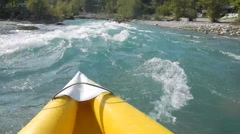 River Rafting as extreme and fun sport - stock footage