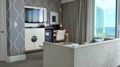Interior Shot of a Hotel room interior. Stock Footage