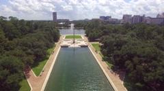 Aerial View Of Herman Memorial Park In Houston Stock Footage