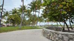 Miami Beach Ocean Drive timelapse Stock Footage
